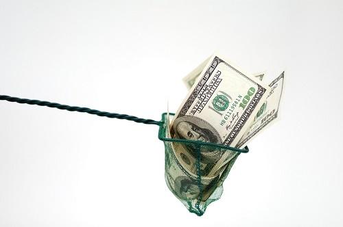 one hundred dollar in fishing net