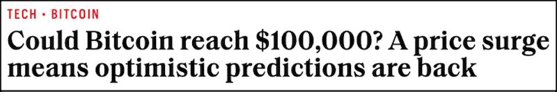 Could Bitcoin reach $100,000?